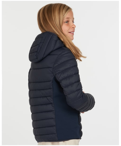 Girls Barbour Saltburn Quilted Jacket – 6-9yrs - Navy