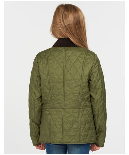 Girls Barbour Printed Summer Liddesdale Quilted Jacket – 6-9yrs - Laurel