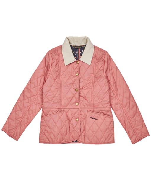 Girls Barbour Printed Summer Liddesdale Quilted Jacket – 6-9yrs - Vintage Rose