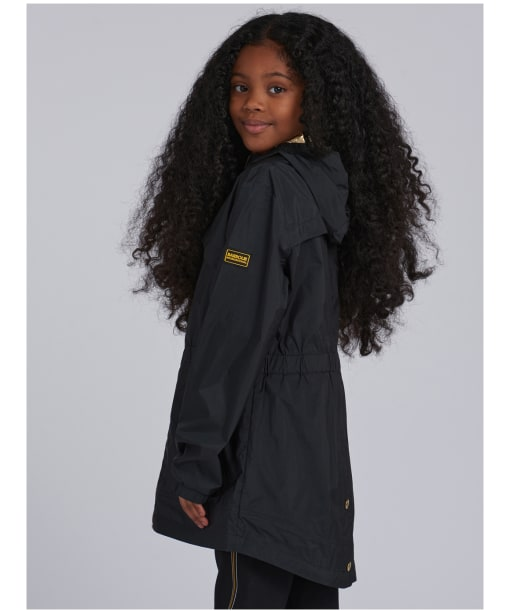 Girl's Barbour International Gearbox Showerproof Jacket – 6-9yrs - Black