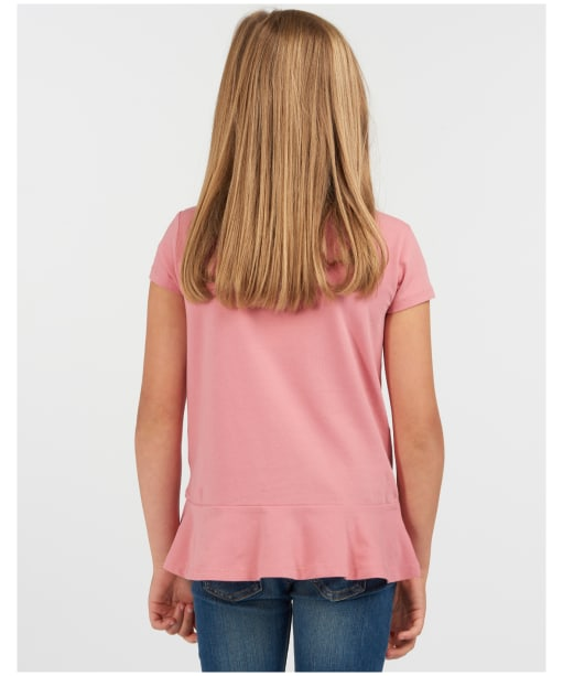 Girls Barbour S/S Rebecca Tee – 6-9yrs - Vintage Rose