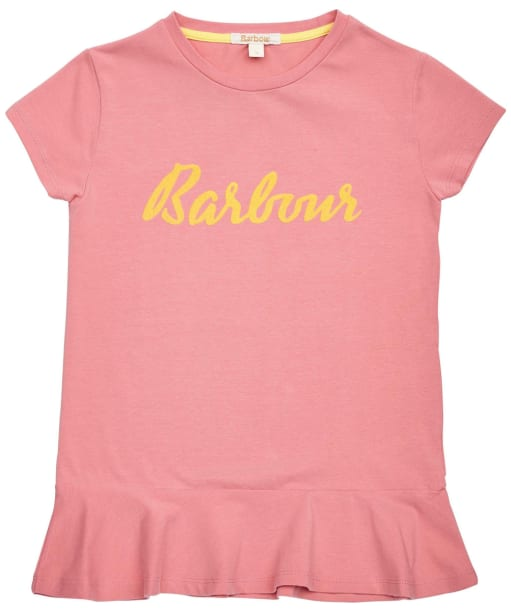 Girls Barbour S/S Rebecca Tee – 10-15yrs - Vintage Rose