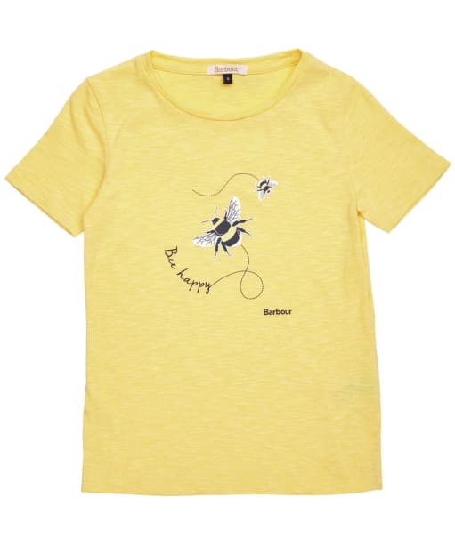 Girls Barbour Merseyside Tee – 6-9yrs - Dandelion Yellow