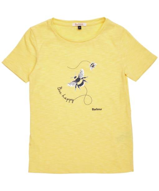 Girls Barbour Merseyside Tee – 10-15yrs - Dandelion Yellow