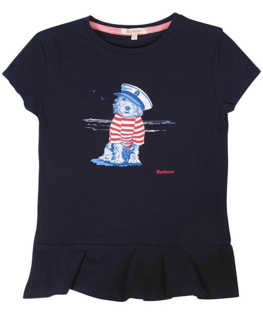 Girls Barbour Rowen Tee – 10-15yrs - Navy