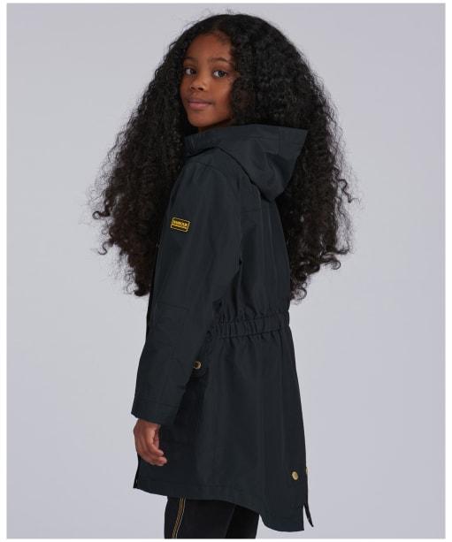 Girl's Barbour International Pedal Waterproof Jacket – 10-15yrs - Black