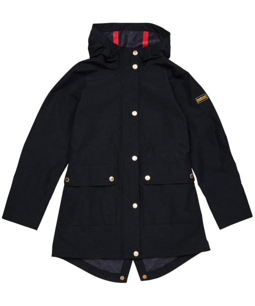 Girl's Barbour International Pedal Waterproof Jacket – 6-9yrs - Black
