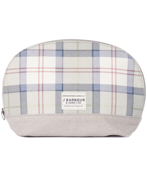 Women's Barbour Tartan Wash Bag - Trench / Grey Tartan