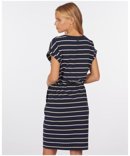 Women's Barbour Marloes Stripe Dress - New Navy