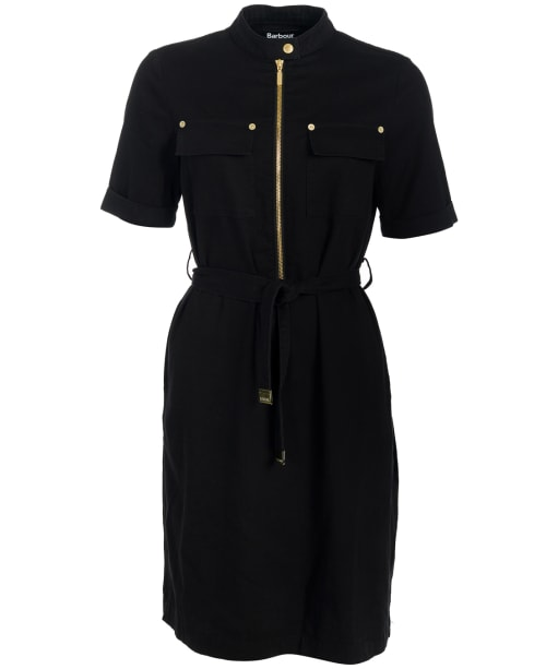 Women's Barbour International Drifting S/S Dress - Black