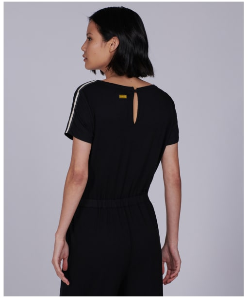 Women's Barbour International Chequer Jumpsuit - Black