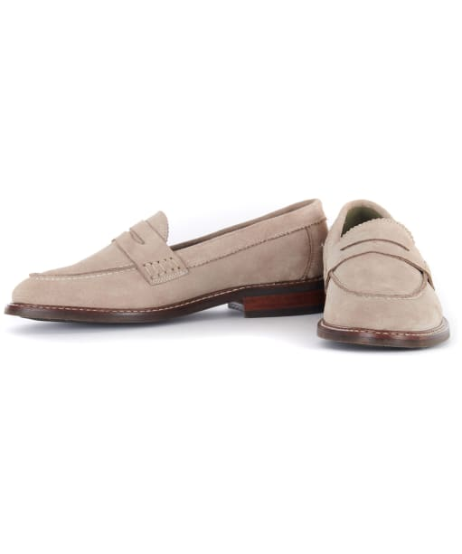 Women's Barbour Blenheim Loafers - Stone Suede