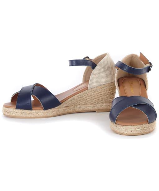 Women's Barbour Angeline Espadrille Wedge Sandals - Navy
