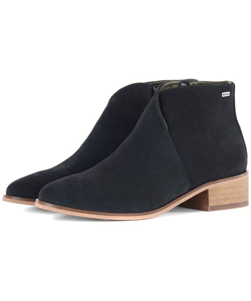 Women's Barbour Caryn Boots - Black Suede