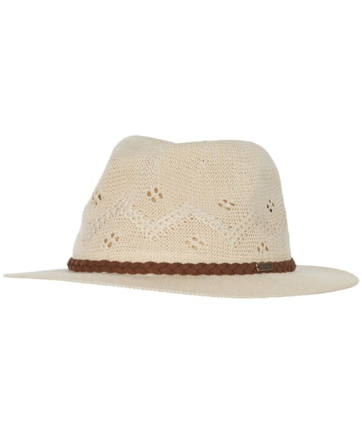 Women's Barbour Flowerdale Trilby Hat - Cream