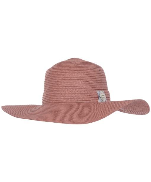 Women's Barbour Wellwood Tartan Sun Hat - Rose Tan