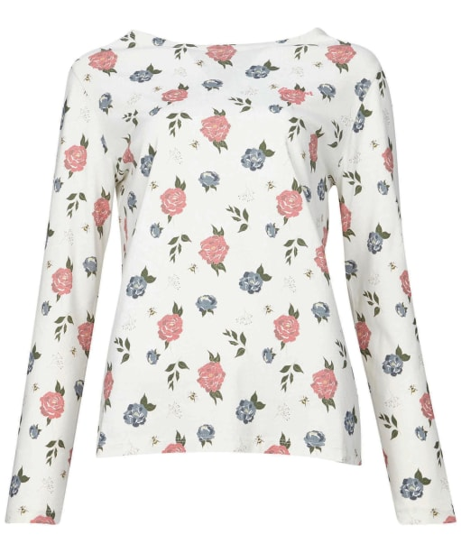 Bradley Print Top - Off White Country