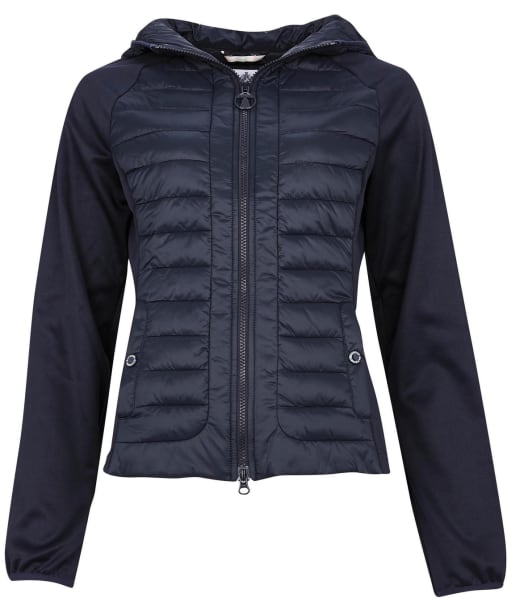 Women's Barbour Nethercote Sweat Jacket - Dark Navy