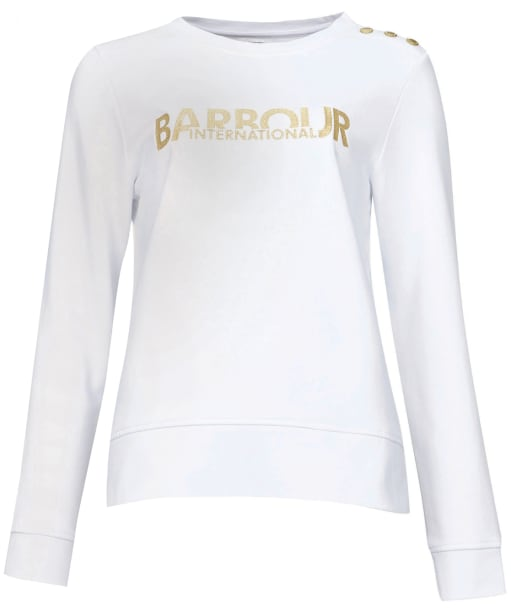 Women's Barbour International Cage Overlayer - White