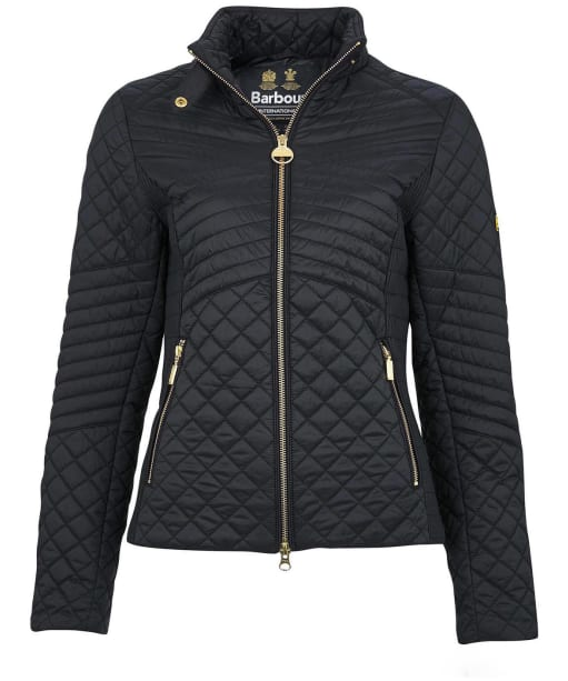 Women's Barbour International Formation Quilted Jacket - Black