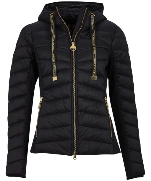 Women's Barbour International Grid Quilted Jacket - Black