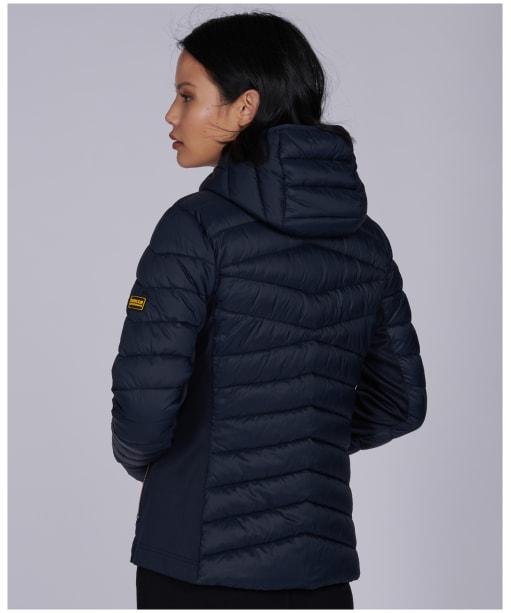 Women's Barbour International Grid Quilted Jacket - Dark Navy