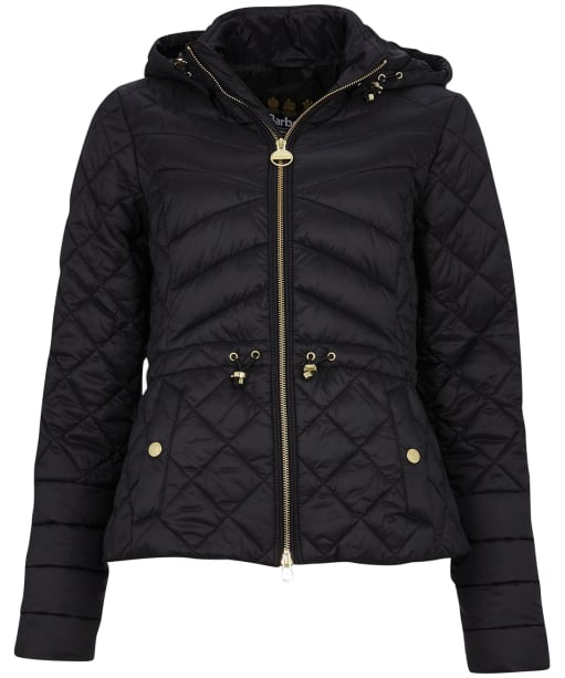 Women's Barbour International Drifting Quilted Jacket - Black