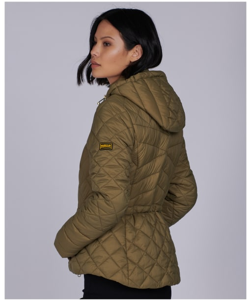 Women's Barbour International Drifting Quilted Jacket - Lt Army Green