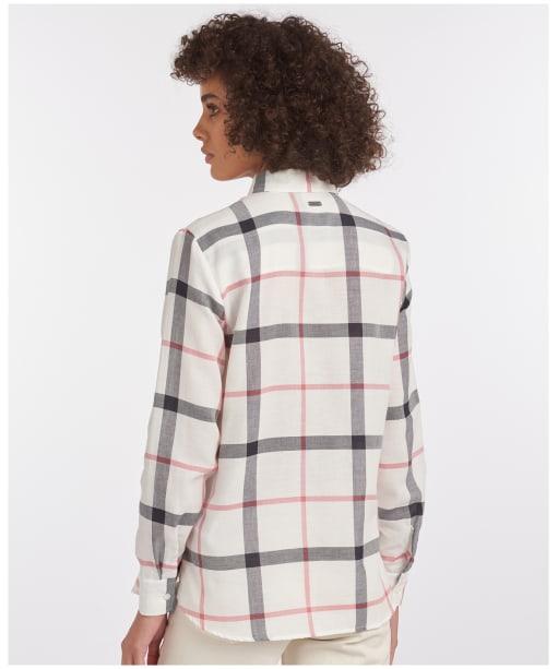 Women's Barbour Oxer Check Shirt - Cloud / Blue Mist