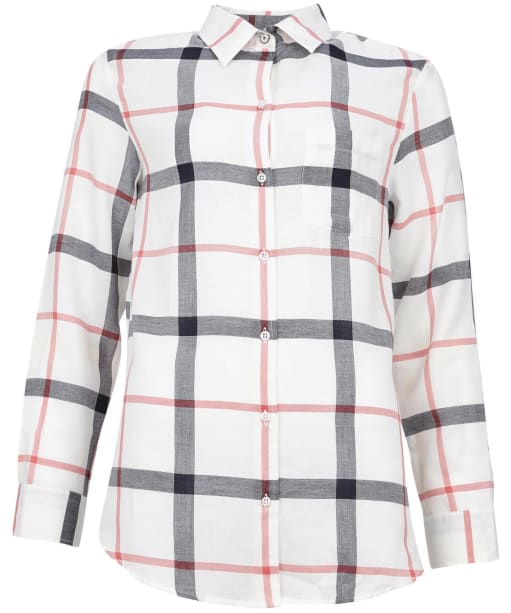 Women's Barbour Oxer Check Shirt - Cloud / Blue Mist