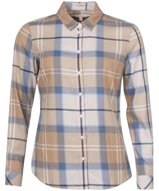 Women's Barbour Bredon Shirt - Blue Mist Tartan