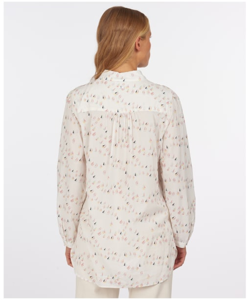 Women's Barbour Padstow Shirt - Off White Print