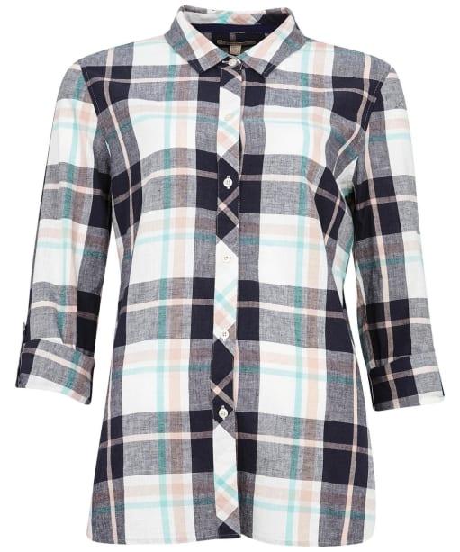 Women's Barbour Seaglow Shirt - Navy Check