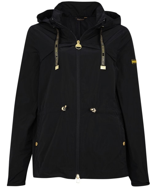 Women's Barbour International Rollcage Showerproof Jacket - Black