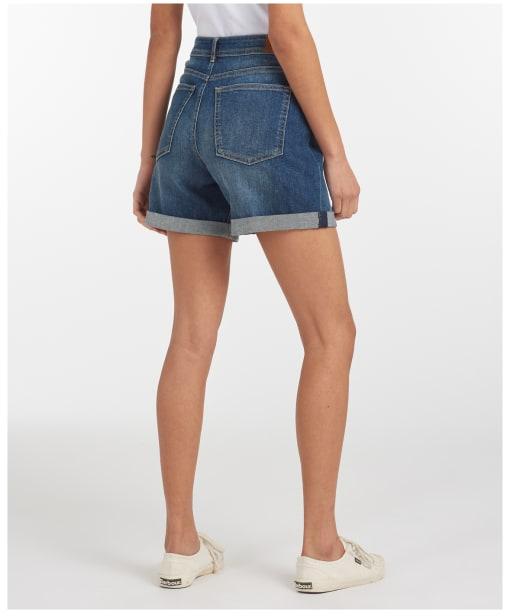 Women's Barbour Maddison Denim Shorts - Authentic Wash