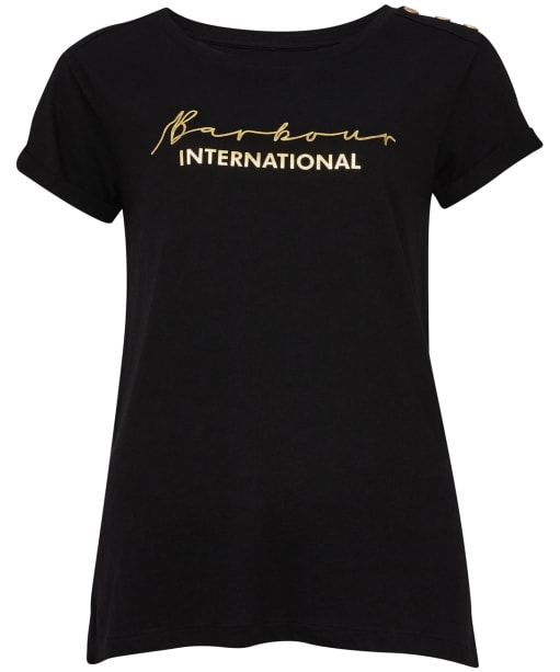 Women's Barbour International Grid Tee - Black