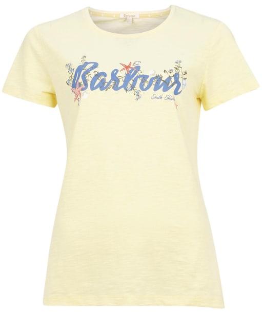 Women's Barbour Folkestone Tee - Yellow Haze