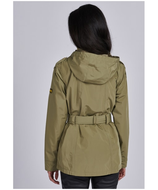 Women's Barbour International Pace Waterproof Jacket - Lt Army Green