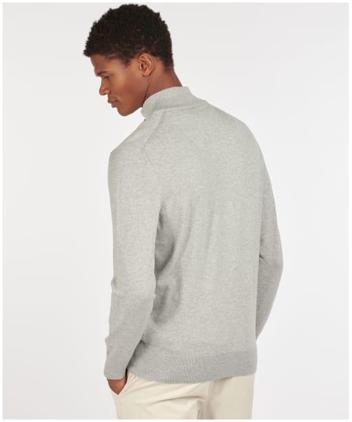 Men's Barbour Tain Half Zip Sweater - Grey Marl