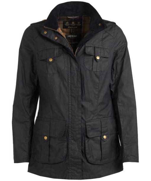 Women's Barbour Defence Lightweight Waxed Jacket - Royal Navy