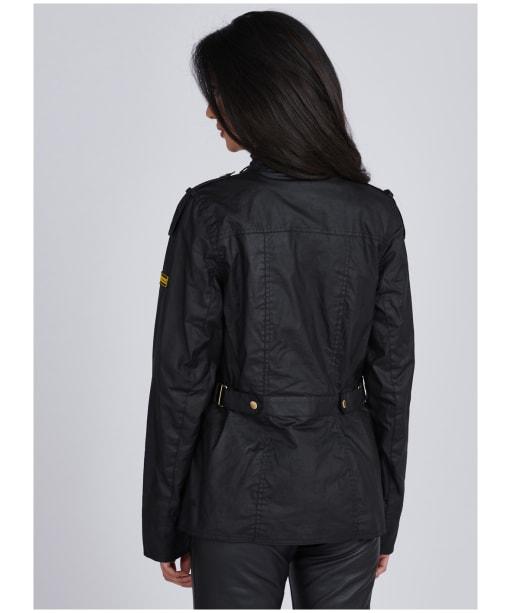 Women's Barbour International Delta Waxed Jacket - Black