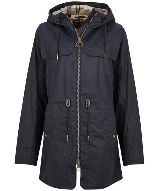 Women's Barbour Watson Wax Jacket - Royal Navy