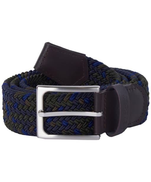 Men's Barbour Tartan Ford Belt - Sage Tartan