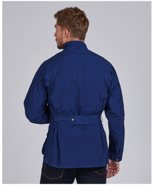Men's Barbour International Summer Wash A7 Casual Jacket - Blue