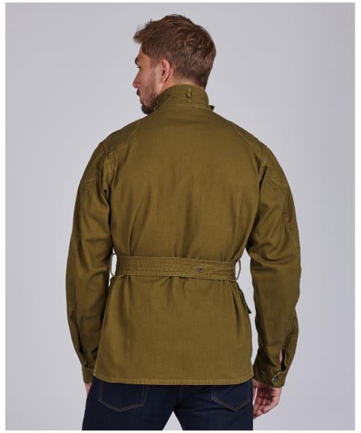 Men's Barbour International Steve McQueen Washed Southwest Casual Jacket - Green