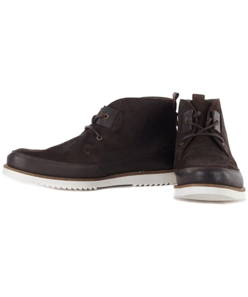 Men's Barbour Band Chukka Boots - Chocolate Suede