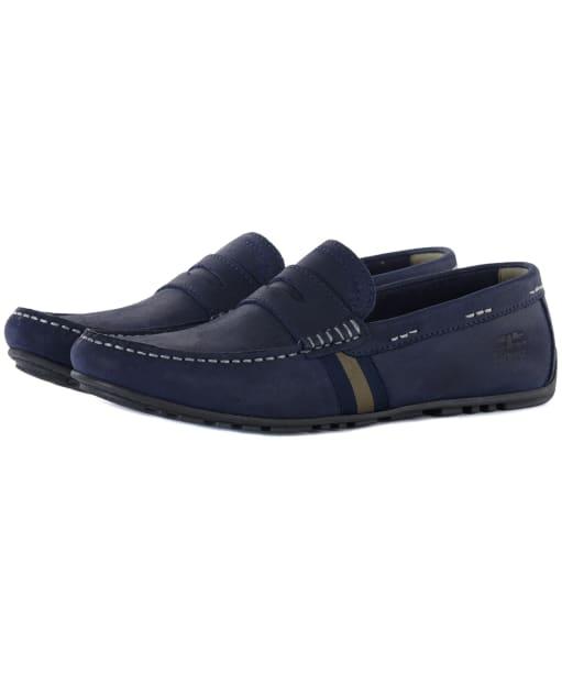 Men's Barbour Moss Driving Shoes - Navy Nubuck