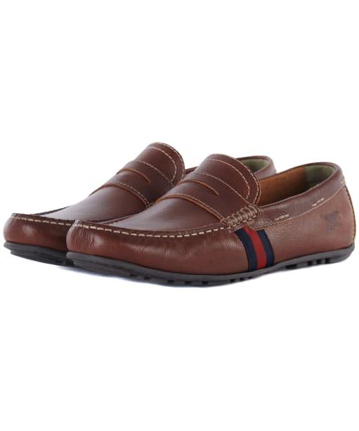 Men's Barbour Moss Driving Shoes - Cognac