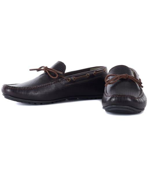 Men's Barbour Clark Driving Shoes - DK BROWN PRINT