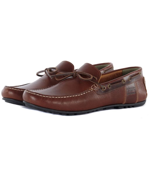 Men's Barbour Clark Driving Shoes - Cognac